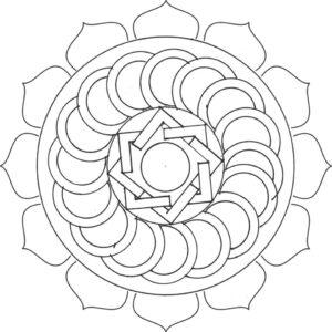 onam pookalam designs outline - 19
