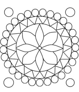 onam pookalam designs outline - 17