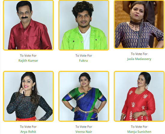 Seventh week nominated contestants - Bigg Boss Malayalam season 2