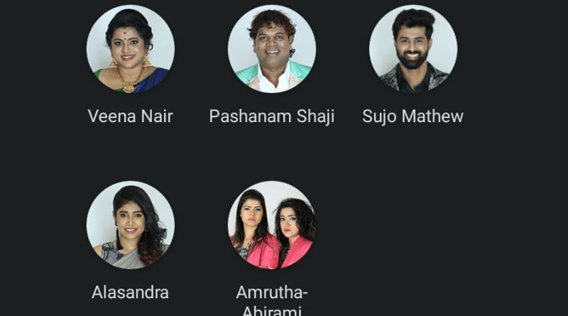 Ninth-week-nominated-contestants-Bigg-Boss-Malayalam-season-2