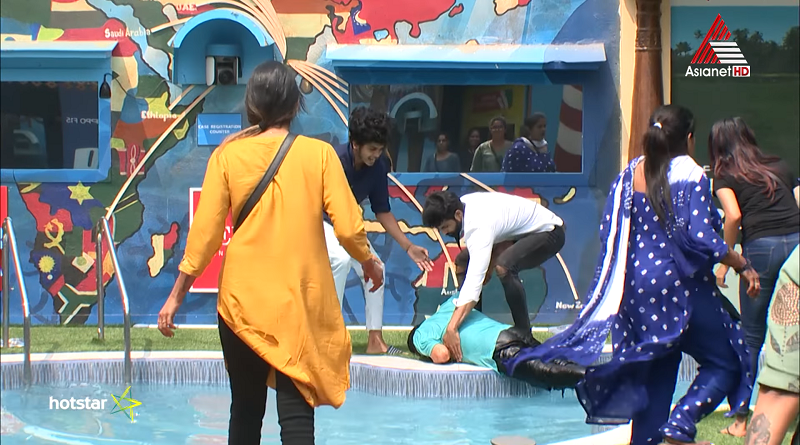 Rajith kumar fell into pool between court task & injured bigg boss