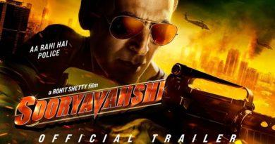 Sooryavanshi Official Trailer Akshay K, Ajay D, Ranveer S, Katrina K Rohit Shetty 24th March