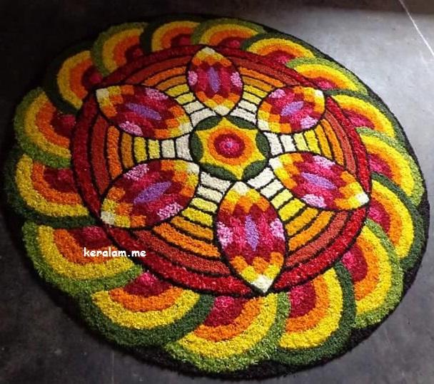 Onam Pookalam Design 71