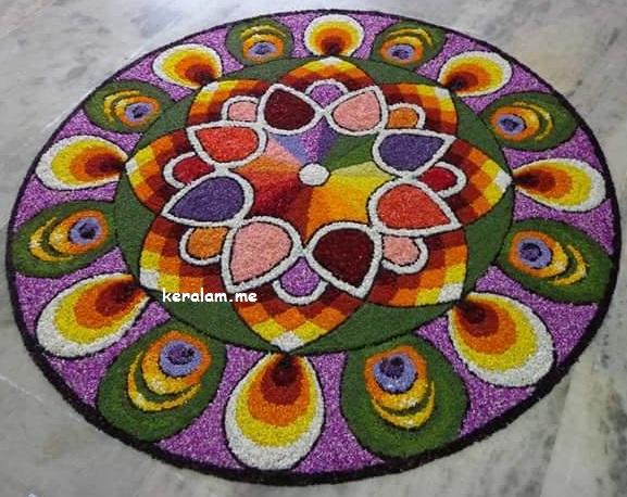 Onam Pookalam Design 80