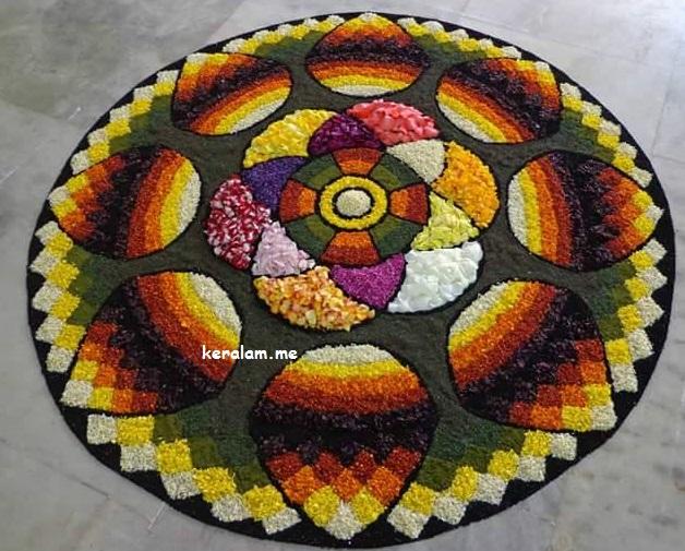 Onam Pookalam Design 87