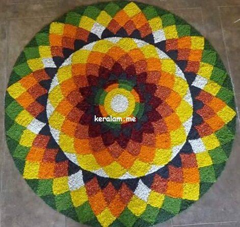 Onam Pookalam Design 90