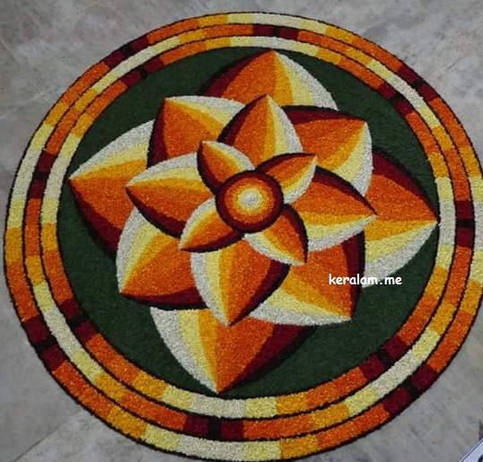 Onam Pookalam Design 93