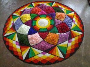 Onam Pookalam Design 95