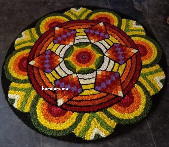 Onam Pookalam Design 52, onam 2020