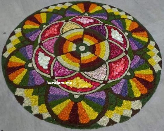 onam pookalam designs,rangoli flower design -2020,