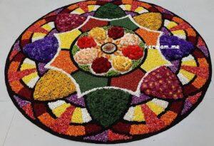 Onam Pookalam Design 98