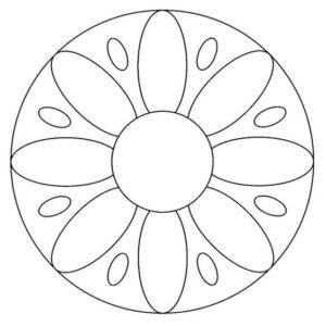 simple onam pookalam outline designs , onam 2020