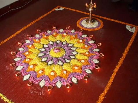 Kerala-Festival-Onam-celebrations-Pookalam