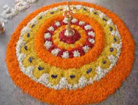 Onam Festival Pookalam