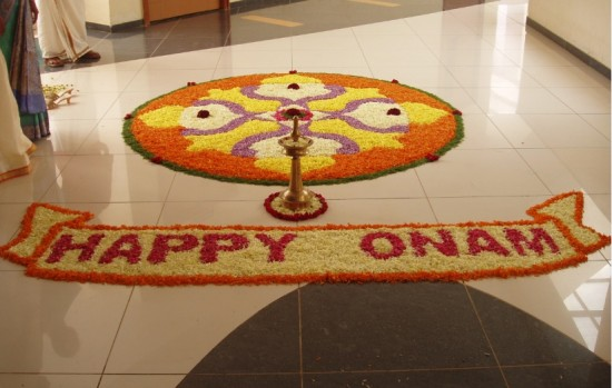 Pookalam Onam festival